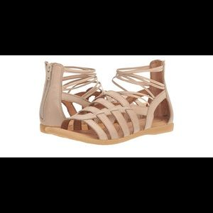 """Born"" gladiator style sandals - Nude/Tan"
